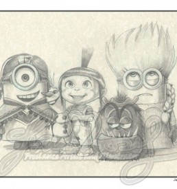 Minions dressed as Frozen characters