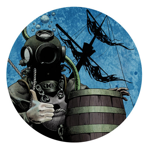 Ship Wreck Beer Bottle Label